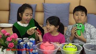 Thử thách bóng bay nước Pepsi hình mặt cười - Hình phạt Wasabi Xúc xích AMAZING PEPSI CHALLENGE!
