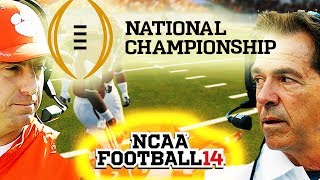 2019 National Championship Game - Clemson vs Bama - NCAA 14 Gameplay