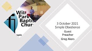 3 October 2021   Greg Akers