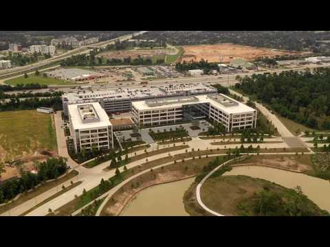 The New HP Inc. Houston Campus hyperlapse and high level drone shots