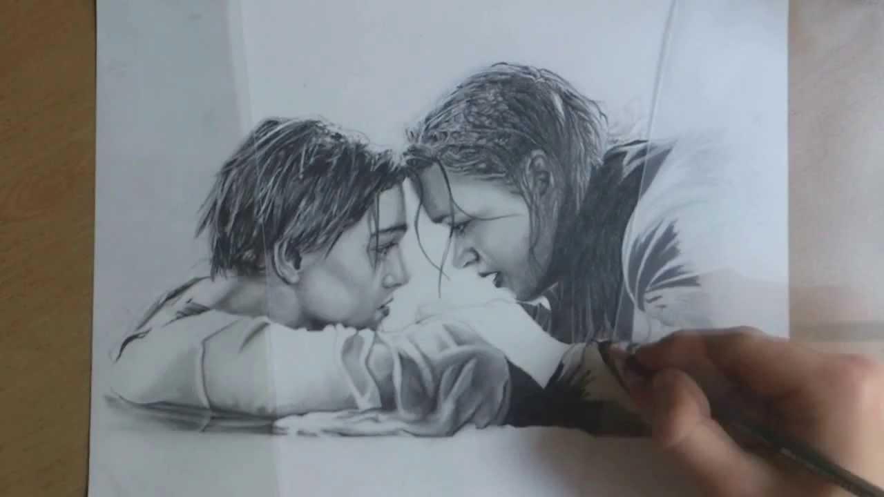 Unleashed art portrait drawing titanic ending scene youtube