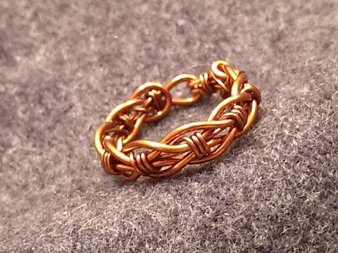 Twisted unisex ring  - How to make copper wire jewelry 72