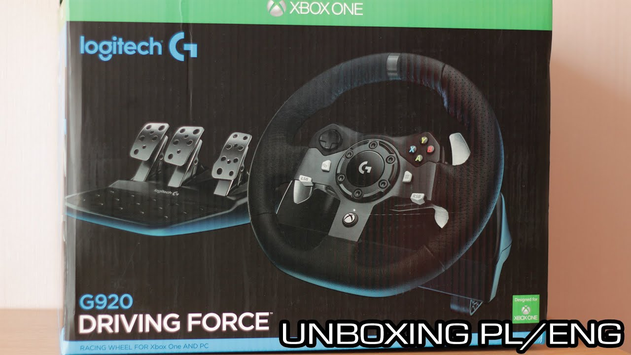 Logitech G920 Driving Force Unboxing Pl Eng Youtube