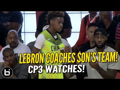 LeBron James Coaches Son LeBron Jr. as CP3 Watches! Full highlights!