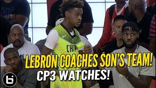 Download LeBron James Coaches Son LeBron Jr. as CP3 Watches! Full highlights! Mp3 and Videos