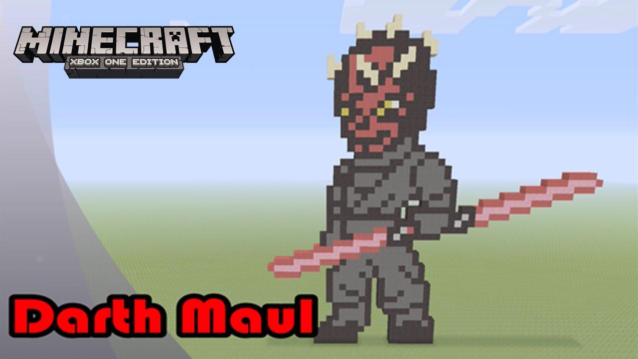 Minecraft Pixel Art Tutorial And Showcase Darth Maul Star Wars