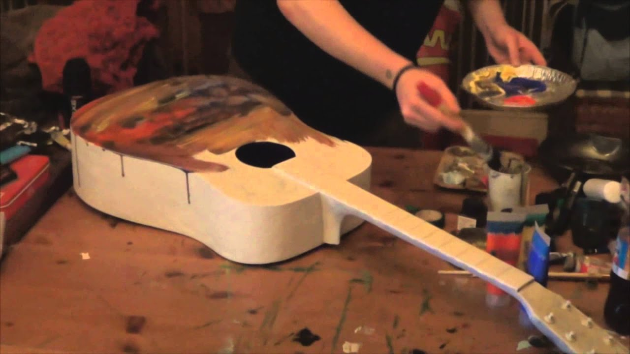 Painting Guitar With Acryl Plastic Technique