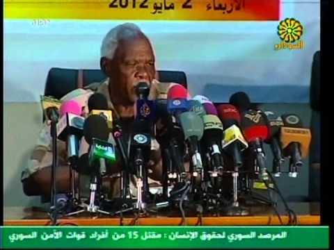 Sudanese Petroleum Minister Awad Ahmed al-Jaz press conference
