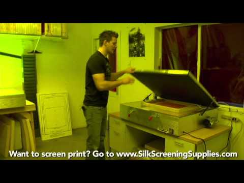How to Screen Print - Detailed instruction - Screen Printing 101 DVD pt 1