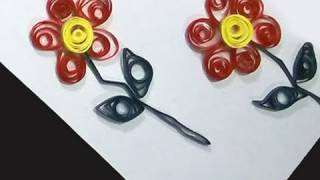 Quilling 101 How to make door hanger with simple quilted flowers - EP - simplekidscrafts