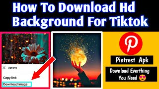 How To Download 4K Background \u0026 Urdu Poetry For Tiktok Videos In Pintrest App ||  #Pintrest