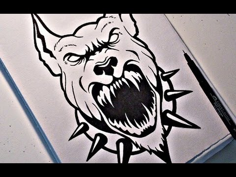 how to draw a bada pitbull design youtube