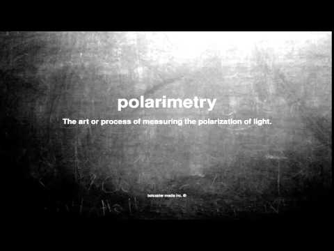 What does polarimetry mean
