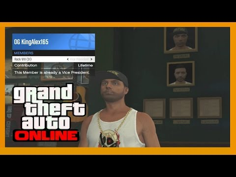 GTA 5 How To Put Your Friends As Vice President, Road Captain, Enforcer or Sergeant At Arms Online