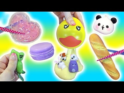 Thumbnail: Cutting Open Squishy TOYS! Pudding SLIME? Homemade Stress Ball Ducky Doctor Squish