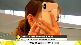 China bans most iPhone sales