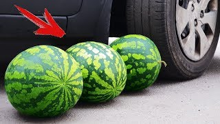 EXPERIMENT: CAR VS WATERMELONS