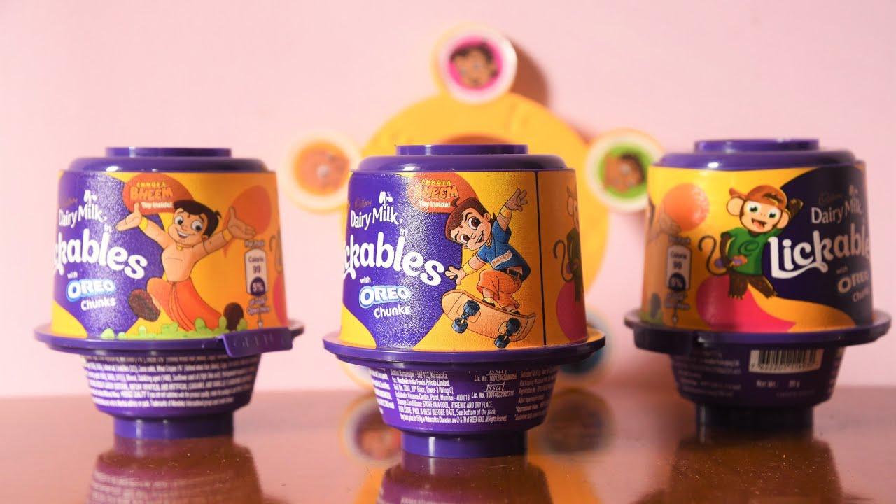 New Cadbury Dairy Milk Lickables Chhota bheem unboxing videos