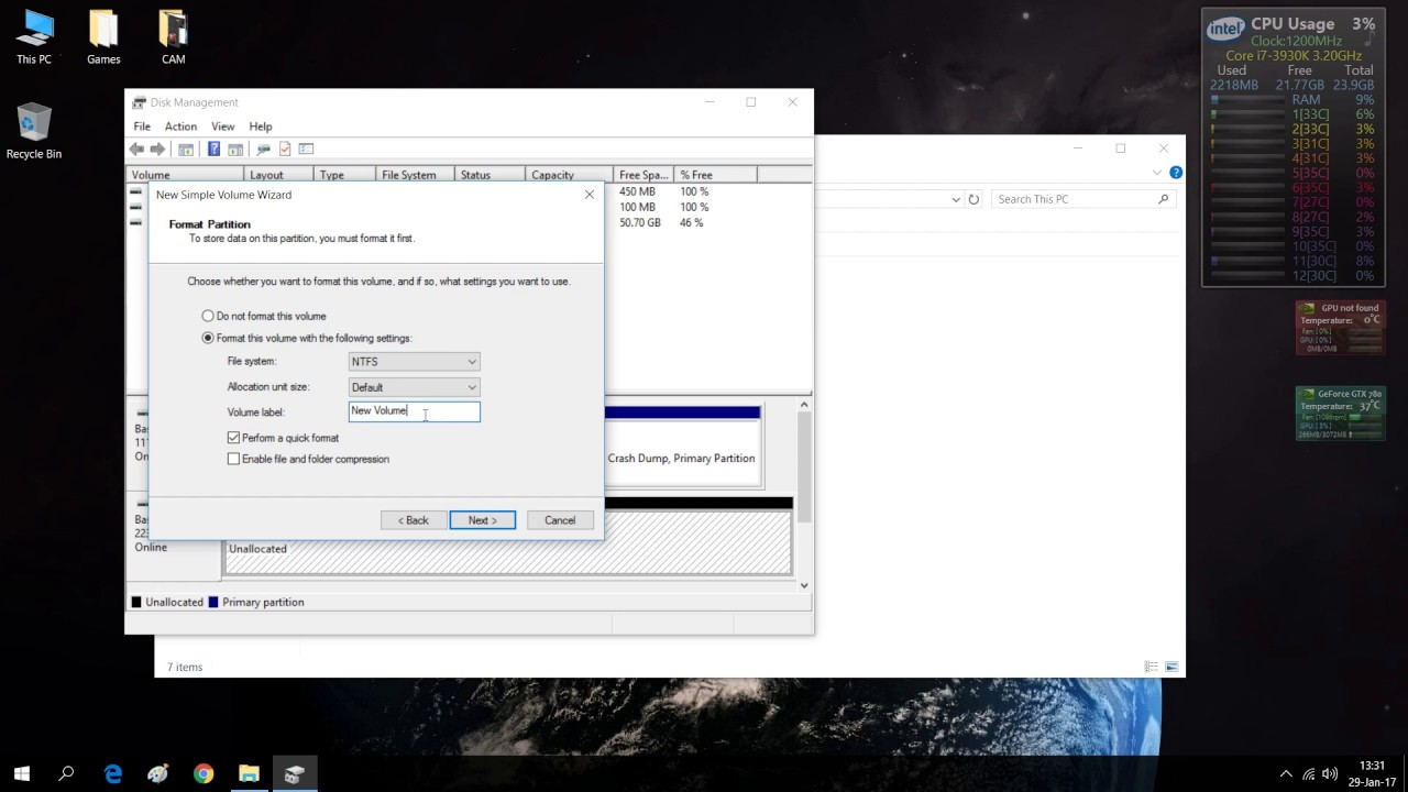 How to format an unseen M2 PCI-E SSD | MBR (Master Boot Record) vs GPT  (GUID Partition Table)
