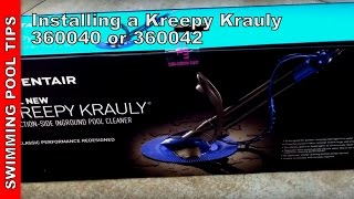 Installing the NEW Kreepy Krauly Automatic Pool Cleaner by Pentair (360040 or 360042)