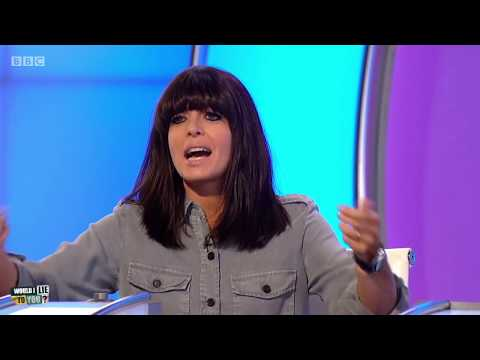 Did Claudia Winkleman get stuck in a baby's cot?  Would I Lie to You? HDCC