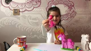 Gigi paint your own figures. Pinkie pie, rainbow dash. Learn colors. Educational video for children