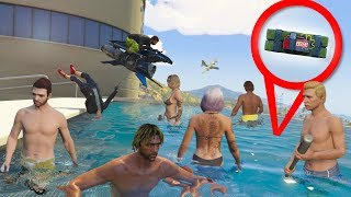 I hid sticky bombs in a pool then invited people to a pool party. | GTA 5 THUG LIFE #278