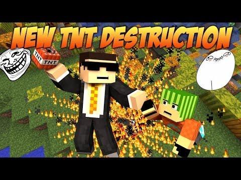 Minecraft NEW TNT Destruction Mod - Flying in the Sky w/ Bodil40