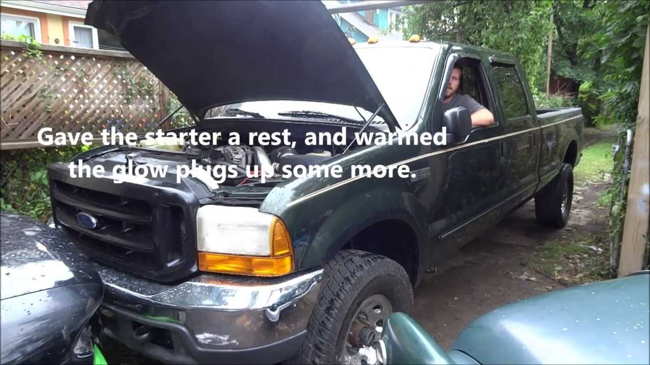 1999 ford f250 diesel wont start