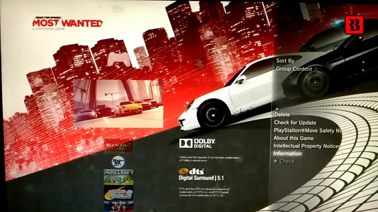 Install NFS Most Wanted PKG PS3 OFW HAN