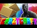 CREATING BLACK PANTHER ARMOR!? - MINECRAFT'S OLDEST MOD PACK CRAZY CRAFT SURVIVAL #5