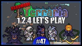 Spooky Armour! Pumpkin Moon Madness! || Let's Play Terraria 1.2.4 [episode 47]