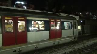 【香港の鉄道】MTR東鉄線大囲駅に入線、発車するメトロキャメル電車と広九直通列車