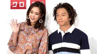 女優の桐谷美玲と男子スノーボードの平野歩夢選手が、「UNIQLO a...