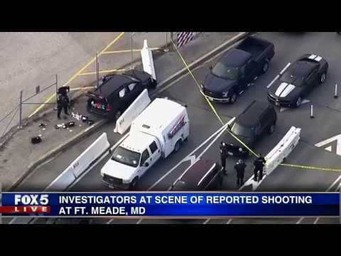 Reports of a shooting at Fort Meade, Maryland