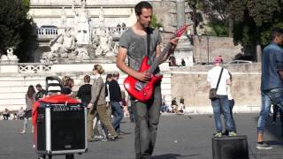 """Street guitarist plays """"Metallica - The Day That Never Comes"""""""