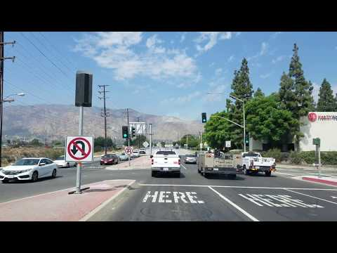 Driving Irwindale Ave in Irwindale, California