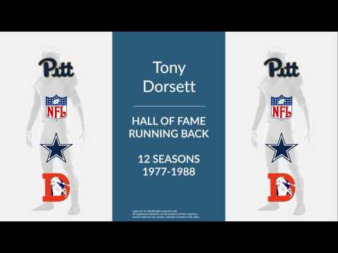 Tony Dorsett Hall of Fame Football Running Back