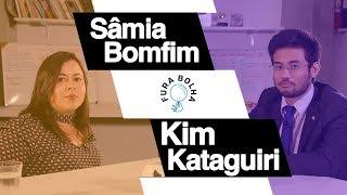 Sâmia Bonfim (PSOL) e Kim Kataguiri (MBL) conversando sobre signos e política