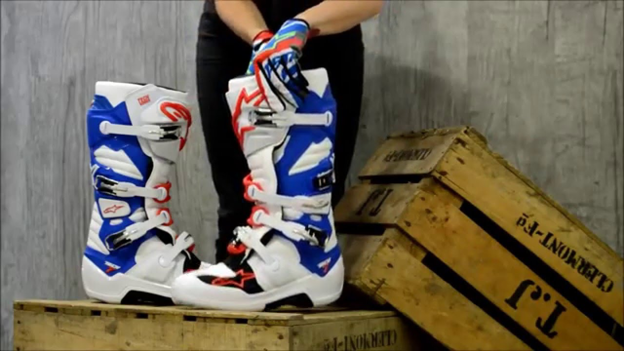 pr sentation des bottes cross alpinestars tech 7 youtube. Black Bedroom Furniture Sets. Home Design Ideas