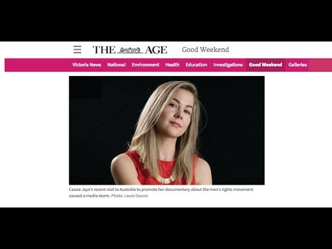 Cassie Jaye's UNEDITED Interview with The Age (Good Weekend) Australia - AUDIO ONLY