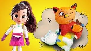 Нелла Отважная Принцесса и мягкие игрушки КОТИКИ на уроке химии! Игрушки СОРВАЛИ УРОК!