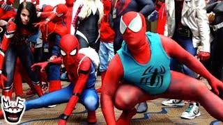 Spider-Man: SPIDER-VERSE Flash Mob Takes MEGACON Invasion! Featuring Deadpool