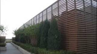 Outdoor wood fence designs
