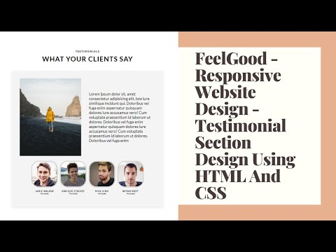 FeelGood - Responsive Website Design Testimonial Section Page Design Using HTML And CSS    CodZone