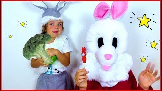 Rabbits change the candy of vegetables