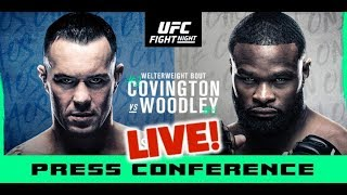 UFC Vegas 11 Post-Fight Press Conference: Covington vs Woodley  | LIVE