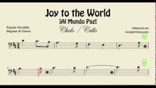 Joy to the World Partitura de Violonchelo Al Mundo Paz Villancico (chelo)