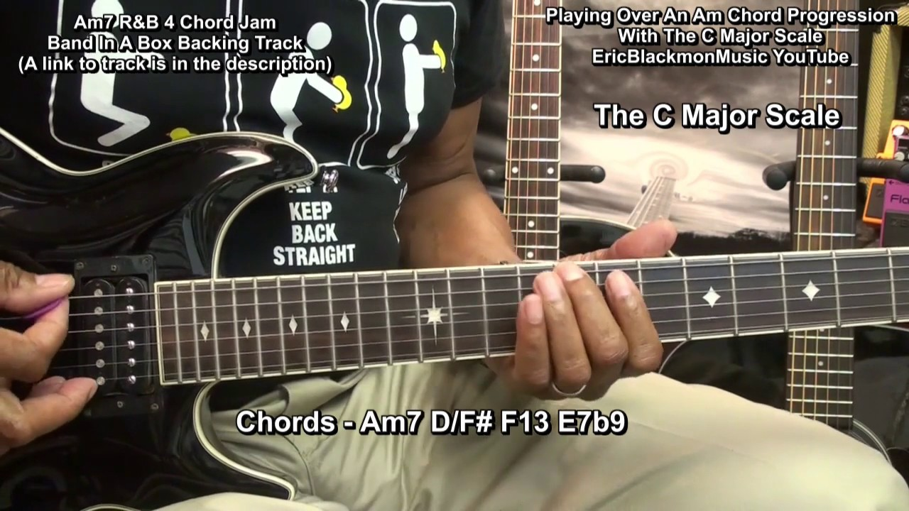 How To Play The C Major Scale Over A Minor Chord Progression On
