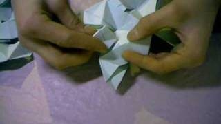 Origami Tutorial -  How To Make A Inverted Triangle Dodectahedron